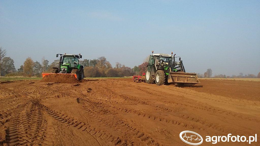 Deutz-Fahr Agrotron K420 & Agrofarm 85 + Unia Ares