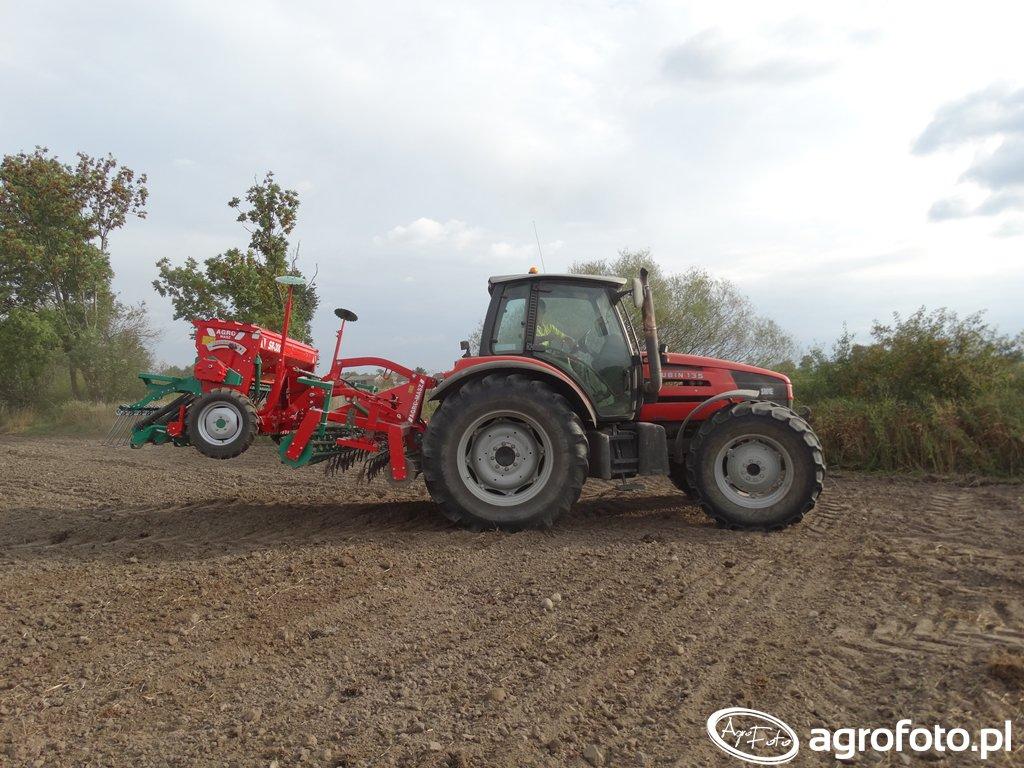 Same Rubin 135 + Agregat uprawowo-siewny Agro-Masz AS3 i Siewnik Agro-Masz SR300