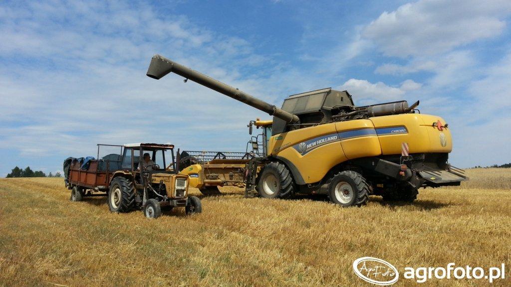 New Holland CX8080 Elevation + Ursus C360 3P