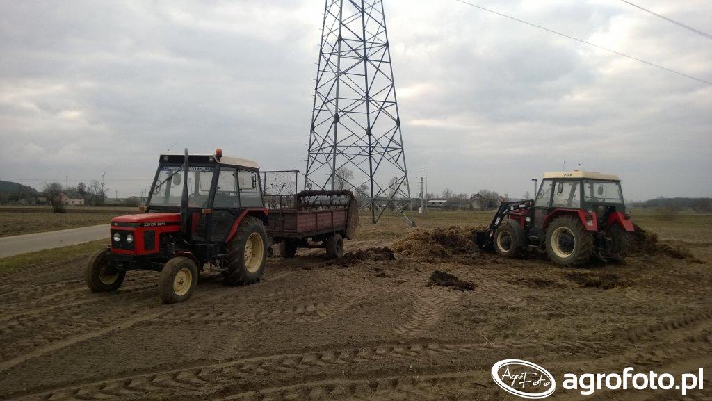 Zetor 6211 & rozrzutnik i Zetor 7745 & Agromasz Ł-104