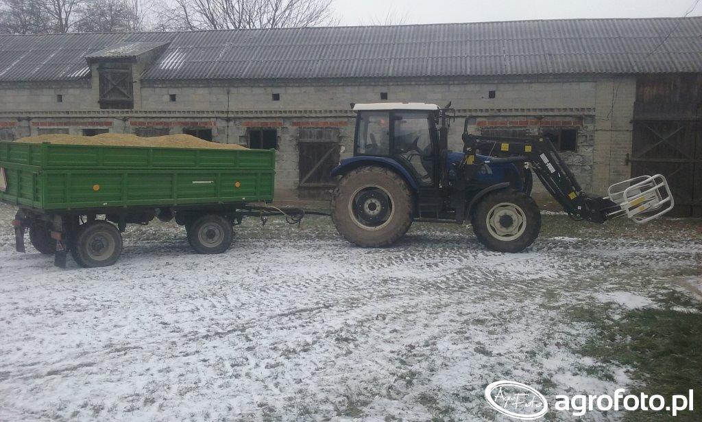 Farmtac 675 DT + Przyczepa