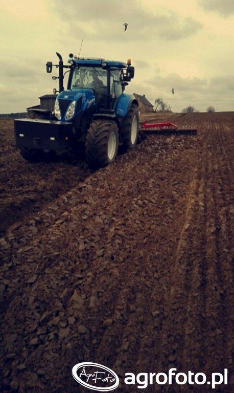 New Holand t7 210 & Unia Ibis XXLS