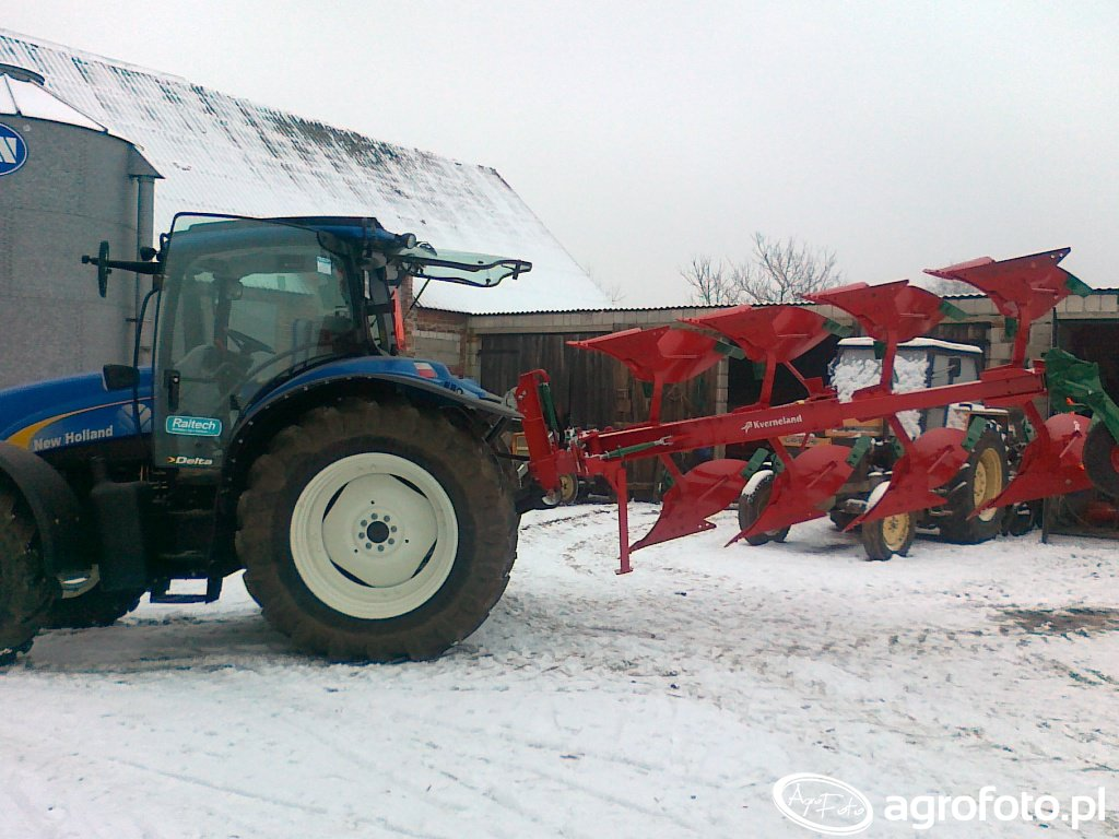 New Holland T6030 i  Kverneland VD85