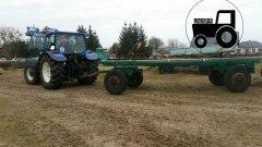 New Holland T5060 & przyczepa do bel