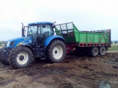 New Holland T6080 + Unia