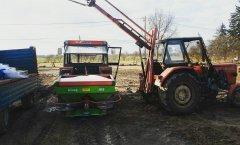Massey Ferguson 255 + Unia Brzeg MS 500 & Ursus C-360 3P + Podnośnik
