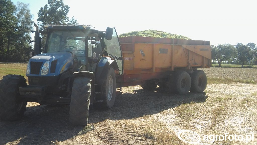 New Holland T6010 + Veenhuis 13t