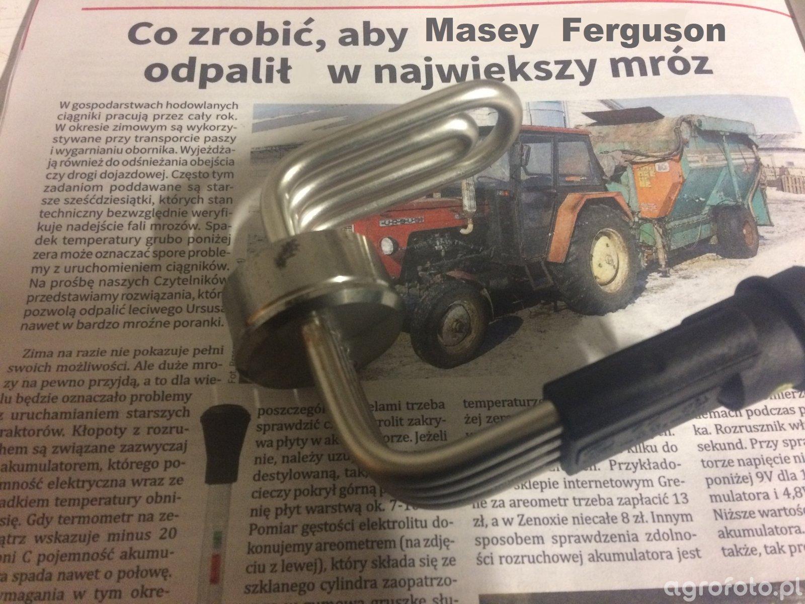Grzałka bloku Masey Ferguson