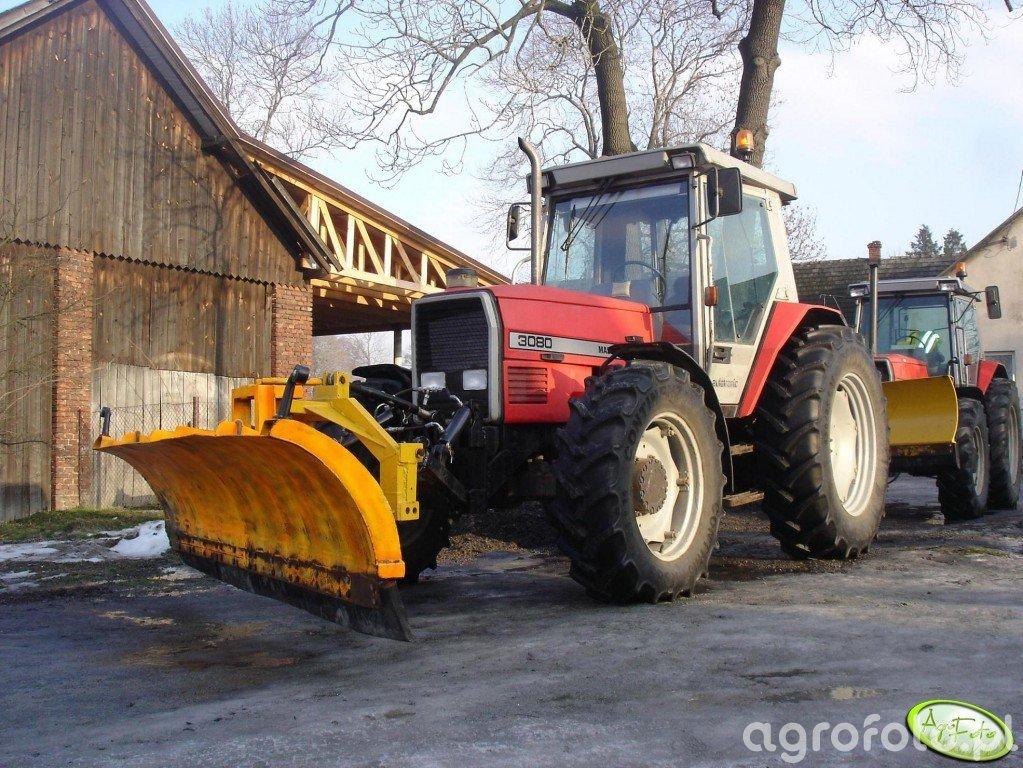 Massey Ferguson 3080 + pług śnieżny