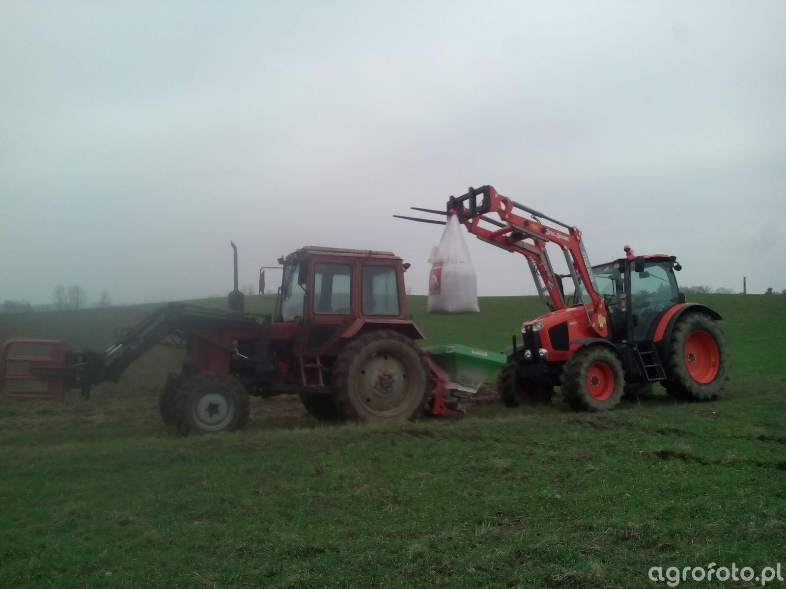 Kubota M125 GX III + MTZ 82 I Strumyk