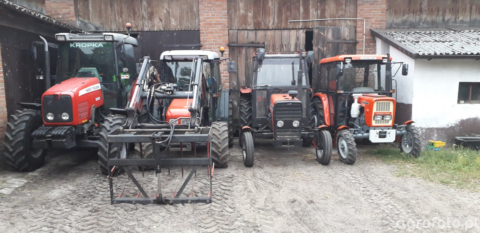 Massey Ferguson 5455+SameRoller60+Ursus3512+UrsusC330