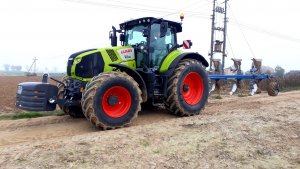 Claas AXION 810 & Överum VARI FLEX CX