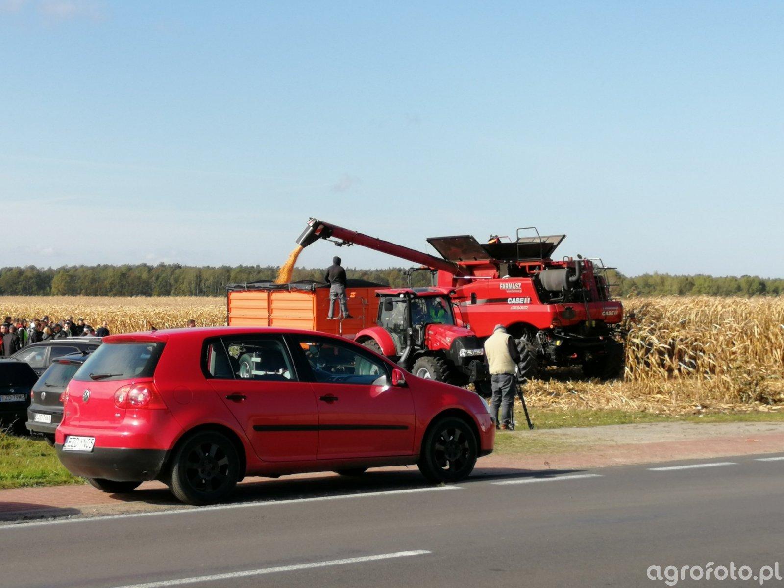 Pokazy zbioru kukurydzy