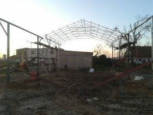 Budowa wiaty 12x8x4,5 cz.2