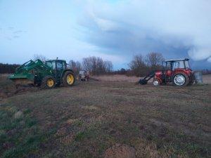 John Deere 6100 & Massey Ferguson 255 & Ursus C330M