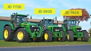 John Deere 6930 wraz z 7720 i 7810