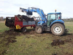 New Holland t4.75 Farmtrac 80 4WD Rozrzutnik Igamet 4,5t