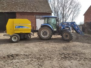 Prasa New Holland 6090&  New Holland TD5105